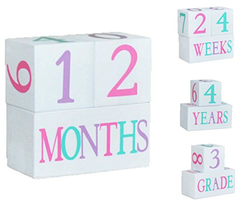 Baby Age Blocks (Custom Wood Letter Blocks)