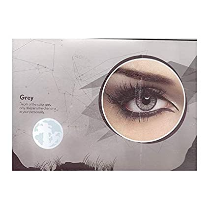b13f986409c Buy Bausch   Lomb Natural Look Colour Contact Unisex Lens - Pack Of 2 Pieces  And 1 Case (Grey) Online at Low Prices in India - Amazon.in