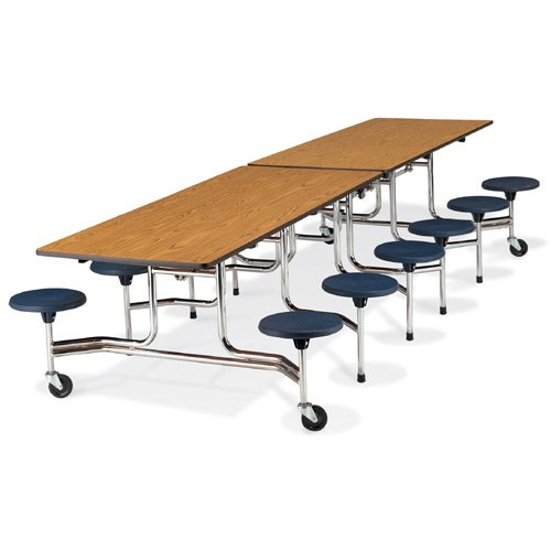 Mobile Stool-Seat Cafeteria Table, 120