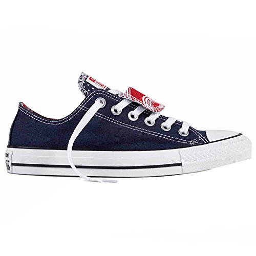 Chuck Womens Trainers Ox Blanc Double Star Canvas Tongue All Converse Marine Taylor 5gHqwwB