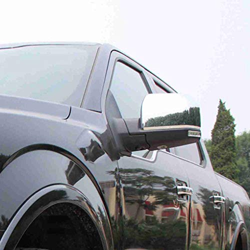 1 Pair Replacement for Replacement F150 2015 Triple ABS Chrome Rearview Mirror Shell Cover Side View Protection Cap by Topker (Image #1)