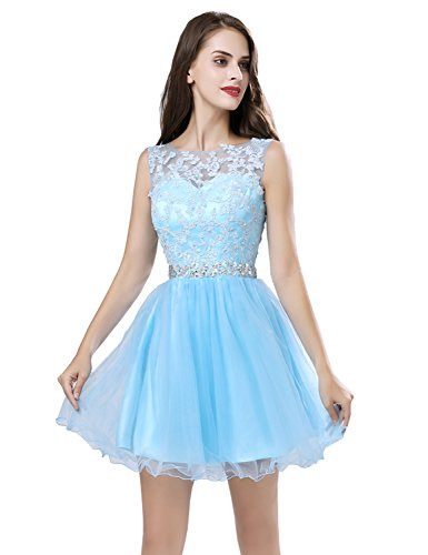 sky Dresses Ball Sweetheart Gowns Blue Prom Junior's Homecoming Belle House Sd361 Short Lace Party xZ1v41qp7w