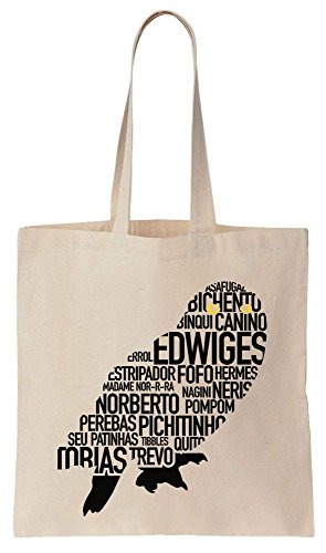 Hedwig Design Made Out Of Other Magical Pets Names Sacchetto di cotone tela di canapa
