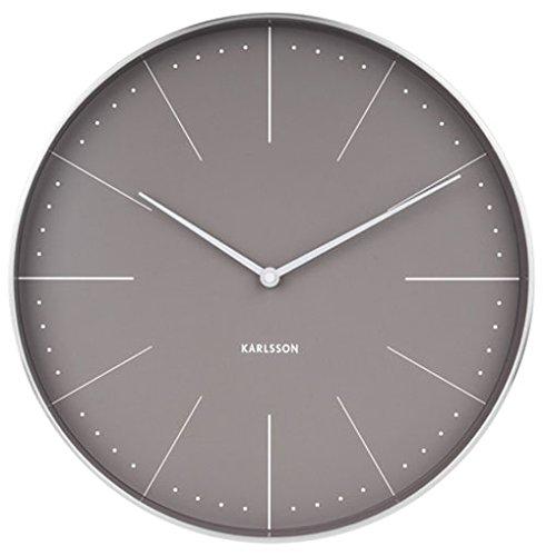 Karlsson Wall Clock, Steel, Gray, One Size