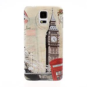 DUR Big Ben and Red Telephone Booth Pattern Plastic Hard Case for Samsung Galaxy S5 I9600