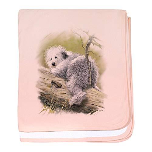 CafePress OES Junior Baby Blanket, Super Soft Newborn Swaddle (Embroidered Fleece Sheepdog)