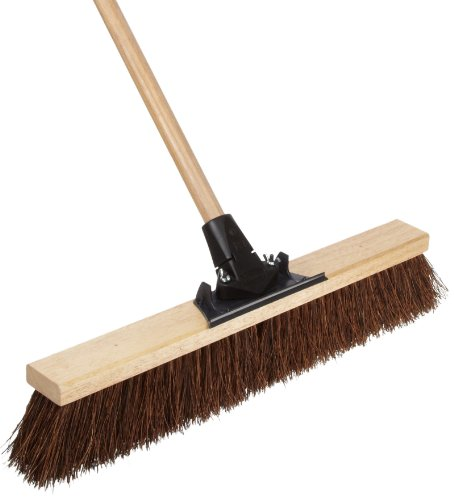 Weiler 44601 Palmyra Fiber Pro-Flex Sweep with Wood Handle, 2-1/2 Head -