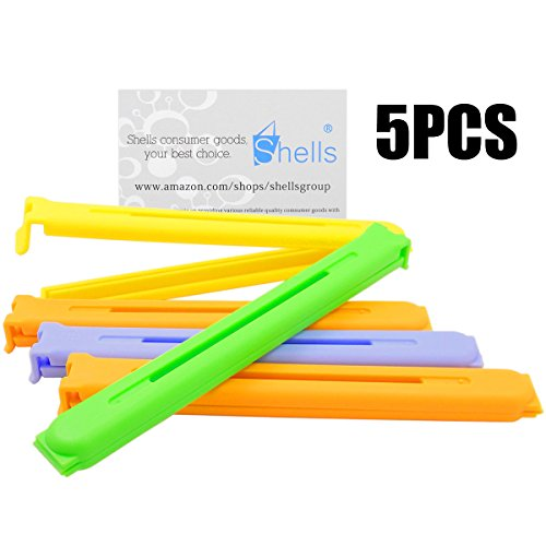Shells 5PCS Large Size 6.3 Inches Multi-colors Fresh-Keeping Sealing Clips Bag Clips Sealer