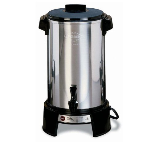Commercial Aluminum Percolator - West Bend 43536 Highly Polished Aluminum Commercial Coffee Urn Features Automatic Temperature Control Large Capacity with Quick Brewing Smooth Prep and Easy Clean Up, 36-Cup, Silver