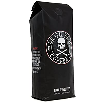 Death Wish Whole Bean Coffee - Fair Trade and USDA Certified Organic by Death Wish Coffee
