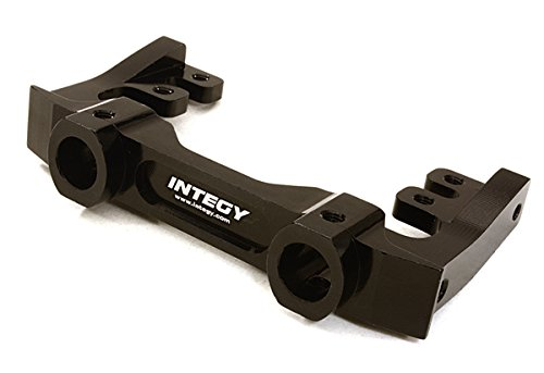 Integy RC Model Hop-ups C27016BLACK CNC Machined 40mm Type Front Bumper & Steering Servo Mount for Axial SCX-10