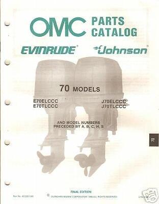 1988 OMC OUTBOARD MOTOR 70 HP PARTS MANUAL (70 Hp Parts Manual)