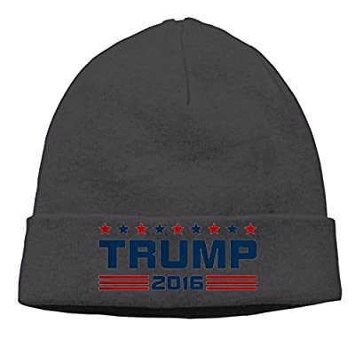 DONALD TRUMP 2016 Warm Funny Black Kint Slouchy Hat Beanies Cap