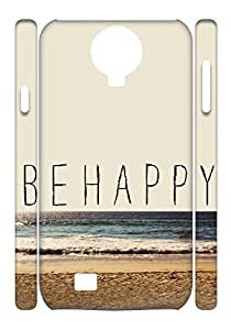 Samsung Galaxy S4 I9500 case, Be Happy Case Cover for Samsung Galaxy S4 I9500,Sea cell phone Case for Samsung Galaxy S4 I9500 mikci-884937 at miici.