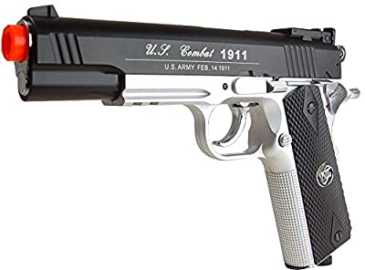 500 FPS NEW WG AIRSOFT FULL METAL M 1911 GAS CO2 HAND GUN PISTOL w/ 6mm BB BBs,Heavy Weight Realistic 1:1 Scale
