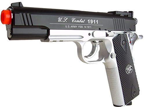 500 FPS NEW WG AIRSOFT FULL METAL M 1911 GAS CO2 HAND GUN PISTOL w/ 6mm BB BBs,Heavy Weight Realistic 1:1 Scale - 1911 Co2 Pistol