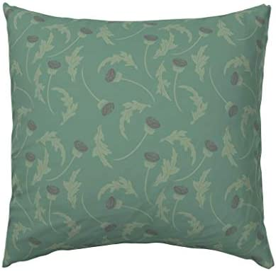Holiday Floral Print Pillow E by design PHF755GY1-18 Valentines