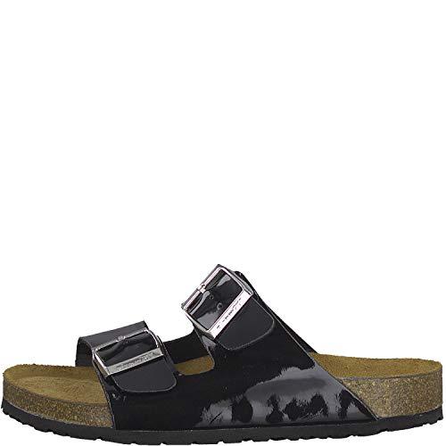 Tamaris muli 1 1 Donna 22 27506 Black Mules Patent pantofola pantofole rBrwZ