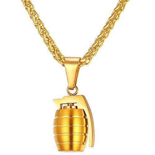 U7 Style Grenade Pendant Necklace