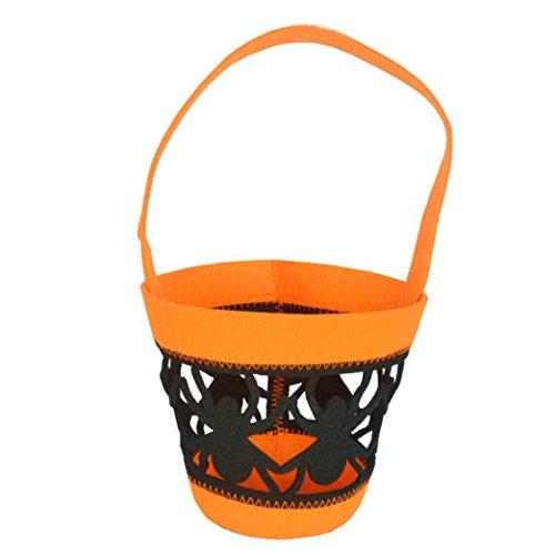 [AMA(TM) Kids Children Halloween Pumpkin Bag Trick or Treat Candy Handbag Totes Bucket Bag (G)] (Bag Of Trash Costume)