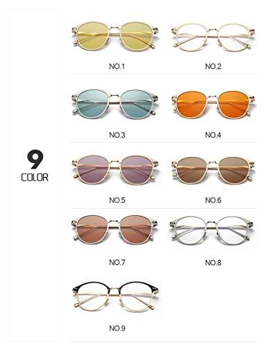 Uso con de Frame al C4 9 Black Lens de Sol Transparentes de C9 Colores Metal Lentes Hombre para para Libre Caramelo Gafas Red Aire Merriz Marco diseño Z5nqXX