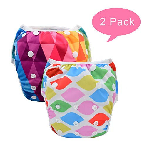 babygoal Reusable Girl Swim Diapers, Baby Shower Gift & Swim Lesson for 0-2 Year Baby Girl 2SWF08 from babygoal