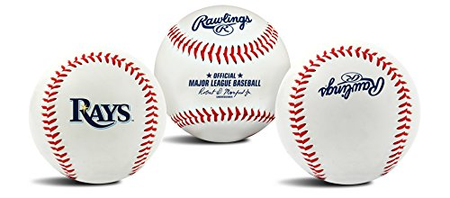 MLB Tampa Bay Rays Team Logo Baseball, Official, White for $<!--$7.88-->