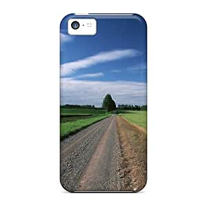 Premium Straight Country Road Back Cover Snap On Case For Iphone 5c