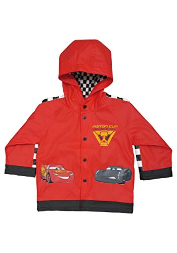 Western Chief Kids Disney Character lined Rain Jacket, Lightning McQueen, 5