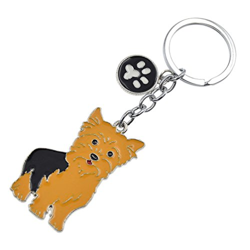 Cute Pet Dog Keychain Alloy Enamel Corgi Husky Poodle Keyring Love Tag Charm - Ring Enamel Key
