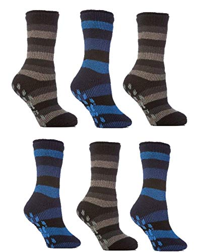 3 x Girl Kid Children Gripper Thermal Warm Motif Design Socks Anti Non Slip Grip