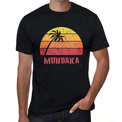 (Men's Vintage Tee Shirt Graphic T Shirt Mundaka Sunset Deep Black)