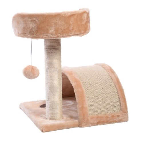 chic cat furniture washable chic cat tree post scratcher furniture play house pet bed kitten toy beige new