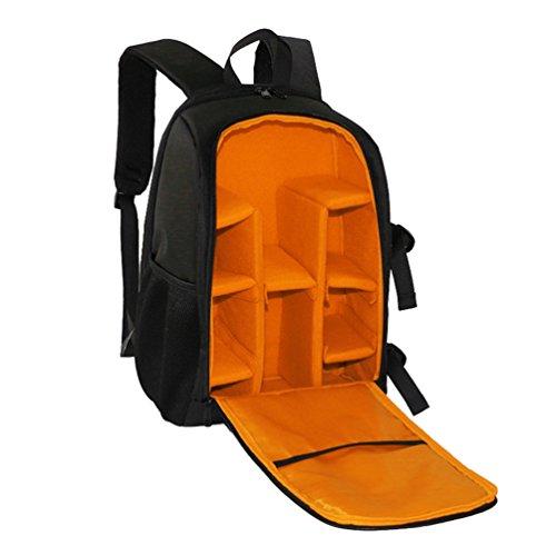WanYang Mochila para Cámaras Deportivas Impermeable del Morral Mochila de Cámara Acolchada a Prueba de Choques Naranja
