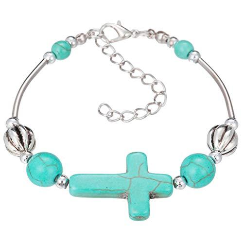 Myhouse Bohemian Turquoise Hand Beaded Bracelet Beautiful for Women