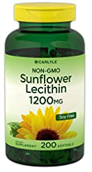 Sunflower Lecithin 1200mg 200 Softgels |...