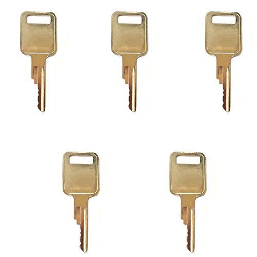 DA77313 Set of 5 Keys for Case IH Bobcat Vermeer JLG Grove Terex Timberjack Ingersol-Rand