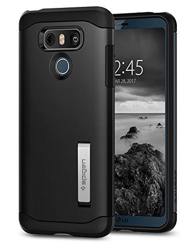 Spigen, Funda compatible con LG G6 [Slim Armor] AIR CUSHION [Black] La protección de los ángulos y de doble capa / TPU silicona rasguño anti + sólida PC.