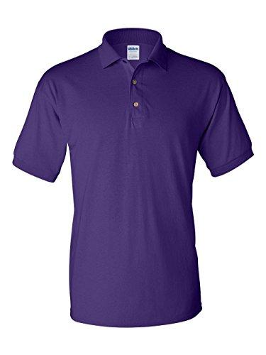 Gildan G8800 Adult DryBlend Jersey Polo - Purple - - Sweater Cotton Button Cuff