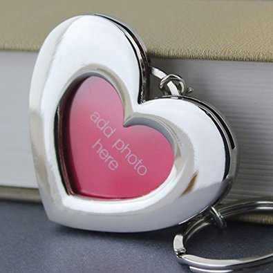 Heart Shaped Keychain Picture Frame by Keychain Frames