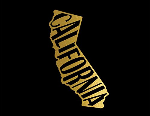 - ND061G State Of California Decal Sticker | 5.5-Inches By 3.3-Inches | Premium Quality Gold Vinyl