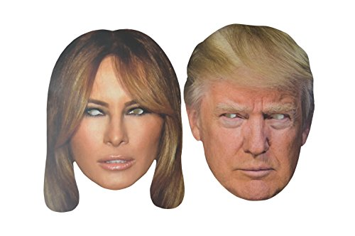 Donald and Melania Trump Cardboard Mask 2 Pack
