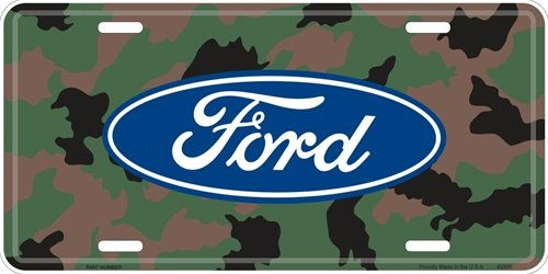 Ford Logo on Realtree Camouflage Embossed Metal License plate Embossed Car Metal License Plate