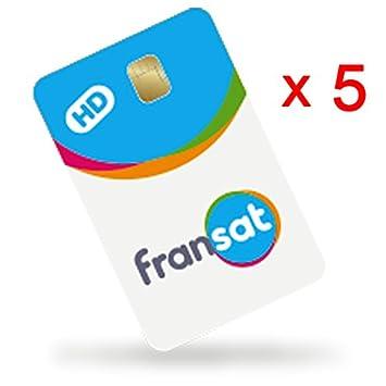 Lote de 5 tarjetas Fransat HD PC6 Valable de vida: Amazon.es ...