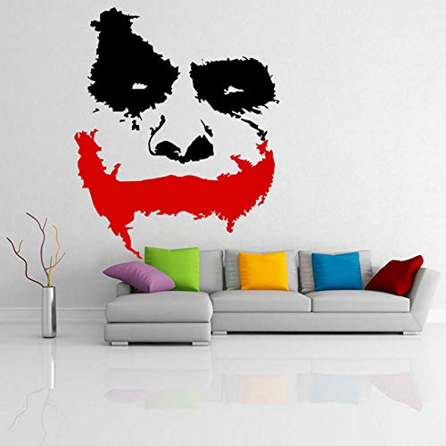Vinyl Wall Applique Scary Clown Face Sticker, Mural 57 70 cm