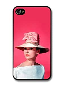 fashion case Audrey Hepburn Wearing Pink Hat case for iphone 6 4.7