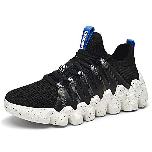 XIDISO Men's Walking Shoes Slip on Sock Sneakers Breathable Comfortable Fashion Workout Shoe for Men