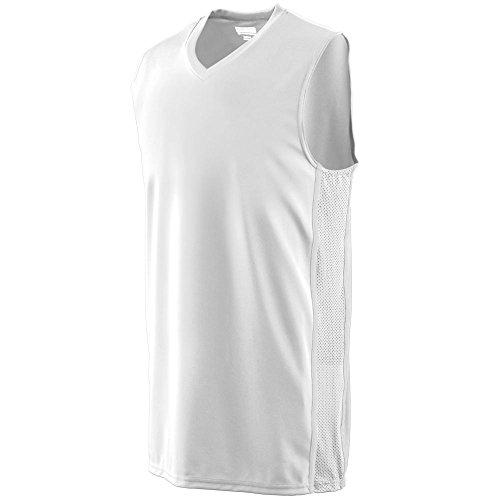 Augusta Sportswear BOYS' WINNING STREAK GAME JERSEY M White/White ()