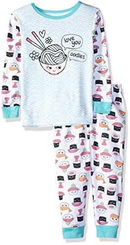 LAMAZE Baby Girls Organic 2 Piece Longsleeve Tight Fit Pajamas Set, Teal, 18M