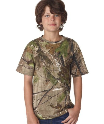 Code V - Youth RealTree Camo Short-Sleeve T-Shirt - 2280 - RealTree APG HD - X-Small